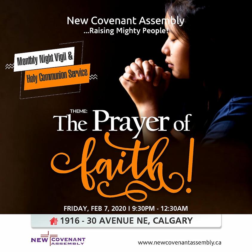 Monthly Night Vigil & Holy Communion Service