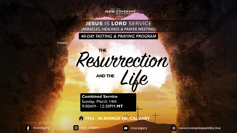 JiLs the resurrection and the life lands