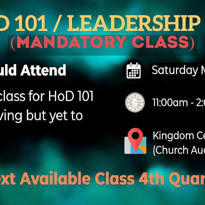 HoD 101/Leadership 102