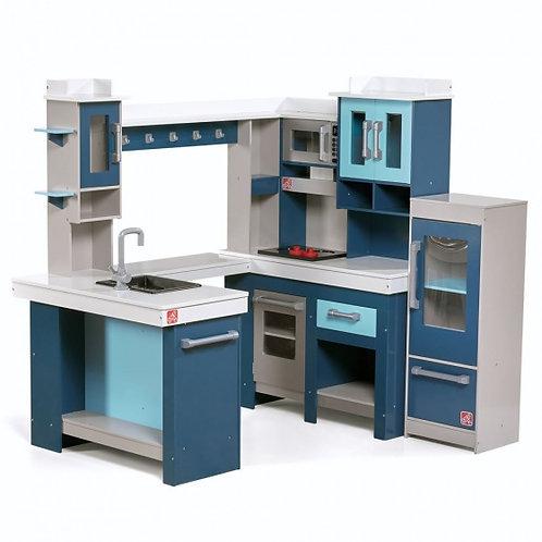 Step2 jouet de cuisine en bois 119cm bleu