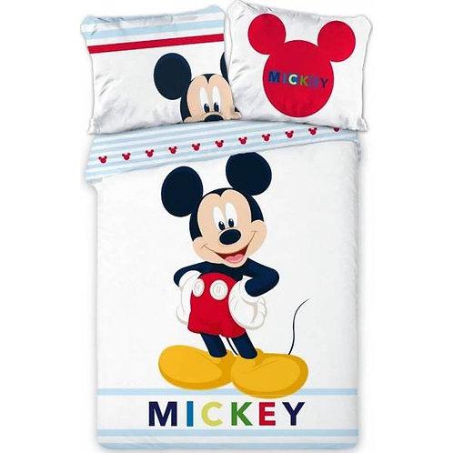 Parure housse de couette Mickey blanc