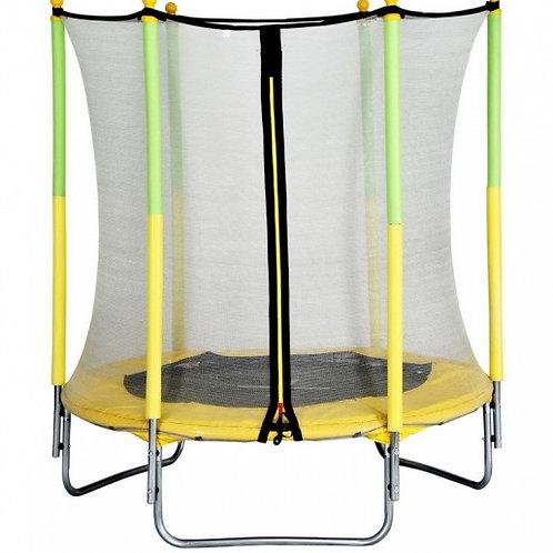 Trampoline AMIGO avec filet de sécurité 139cm Jaune