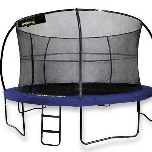 Jumpking trampoline avec filet er échelle jumpPod deluxe 305 cm bleu