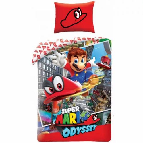Housse de couette Mario Odyssey, 100% coton