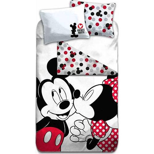 Parrure housse de couette Mickey, Minnie