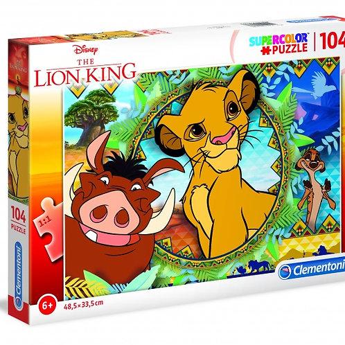 Clementoni puzzle supercolor Roi Lion 104 pièces