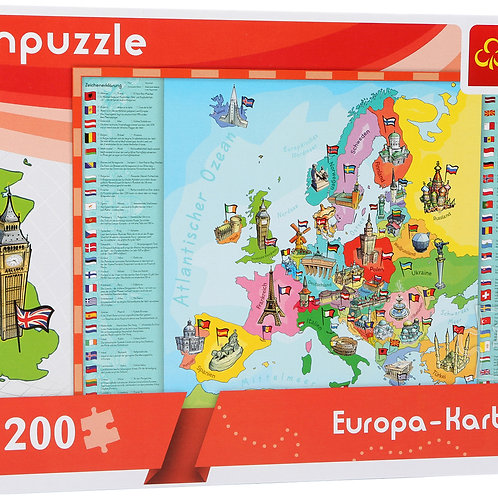 "Puzzle d'apprentissage ""Carte de l'Europe"""