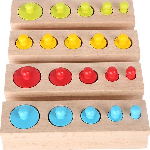 "Jeu à emboîter multicolore""type Montessori"" 10525"