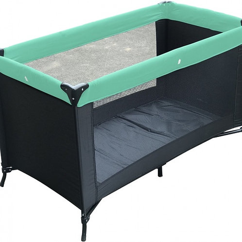 Kzkk lit parapluie Charlene 120x60cm noir/vert menthe