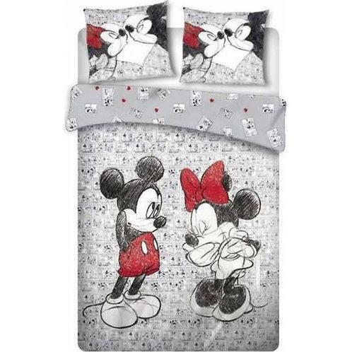 Parure de lit Mickey et Minnie 2 personnes 240 x 220 cm