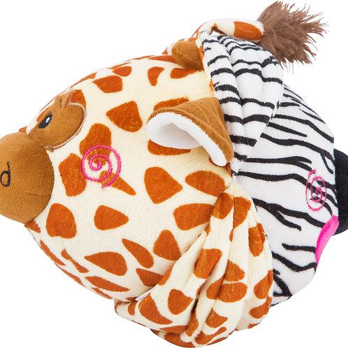 """Ballon en peluche """" Zèbre & Girafe"""""""
