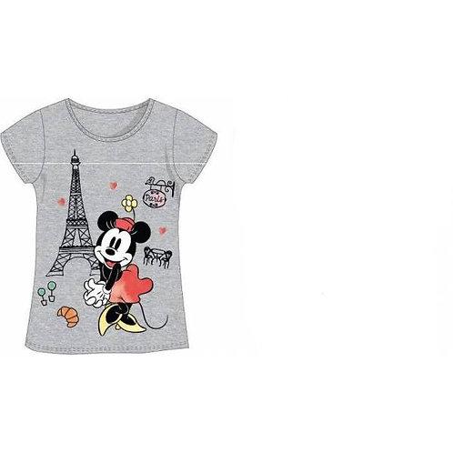 T-shirt Minnie tour eiffel, 100% coton gris