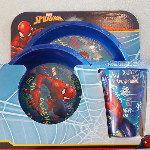 set vaisselle plastique 3pcs Spiderman