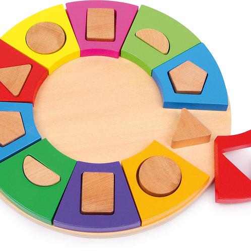"""puzzle cercle à emboiter """"6575"""""""