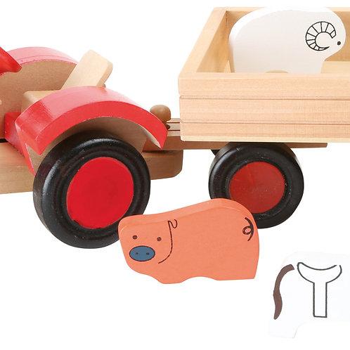 Tracteur avec animaux 7158
