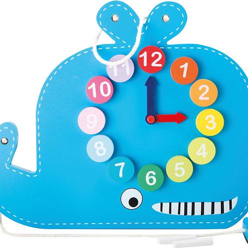 Horloge éducative et tableau « Baleine » 10323