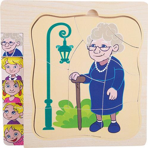 """Puzzle à étage """"La vie de Grand-mère"""" 11028"""