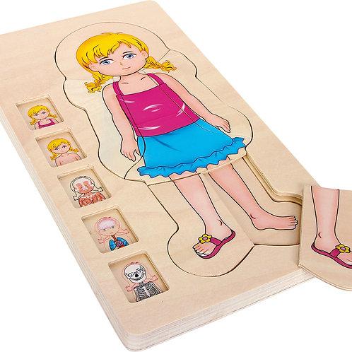 Puzzle à étages Anatomie Fille 5814