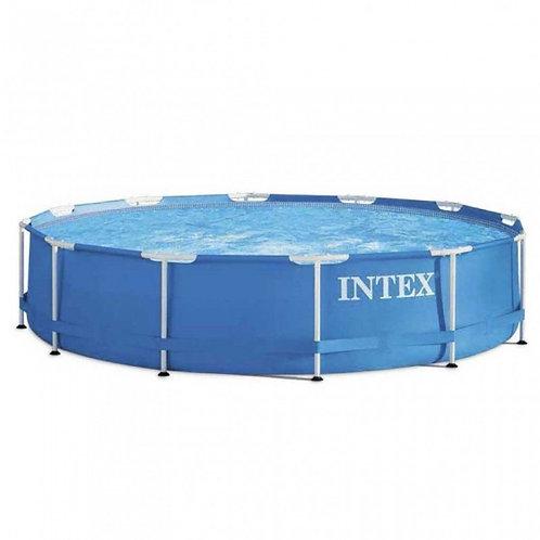 Piscine hors sol Intex avec structure en métal 366 x 76 cm bleu