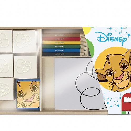 Multiprint jeu de couleurs Roi Lion en bois 20 pièces