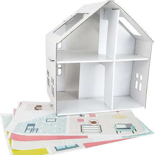Maison de poupée en carton à coller 10761
