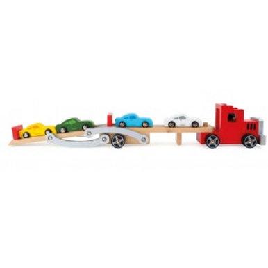 Camion transporteur de voiture bois 4222