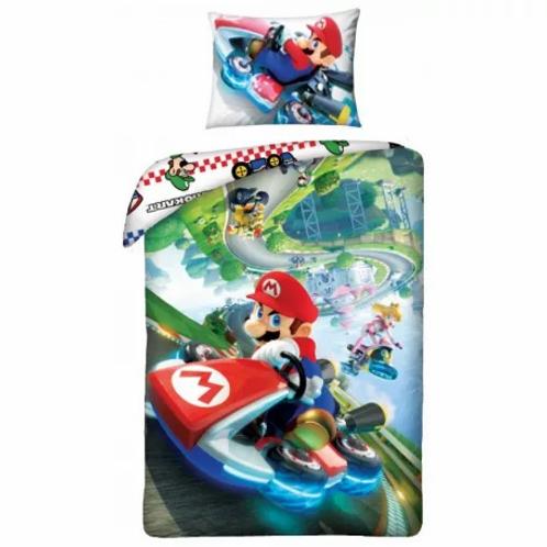 Housse de couette Super Mario, 100% coton, 140x200cm