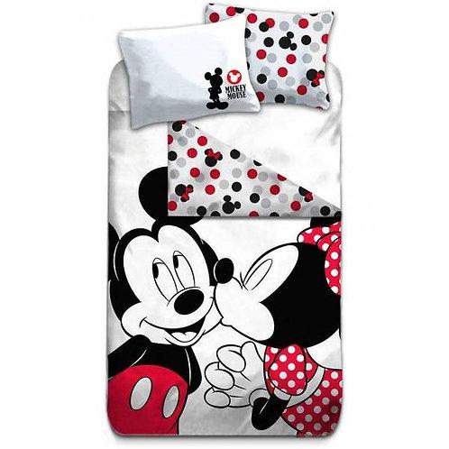 Parure de lit Mickey et Minnie - 100% coton