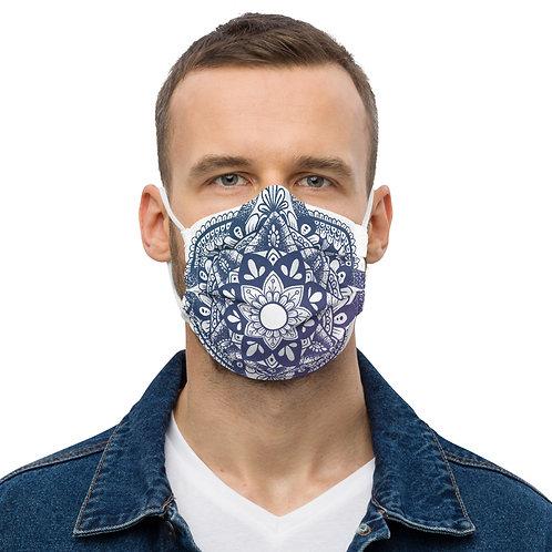 Blue and Purple Mandala Mask