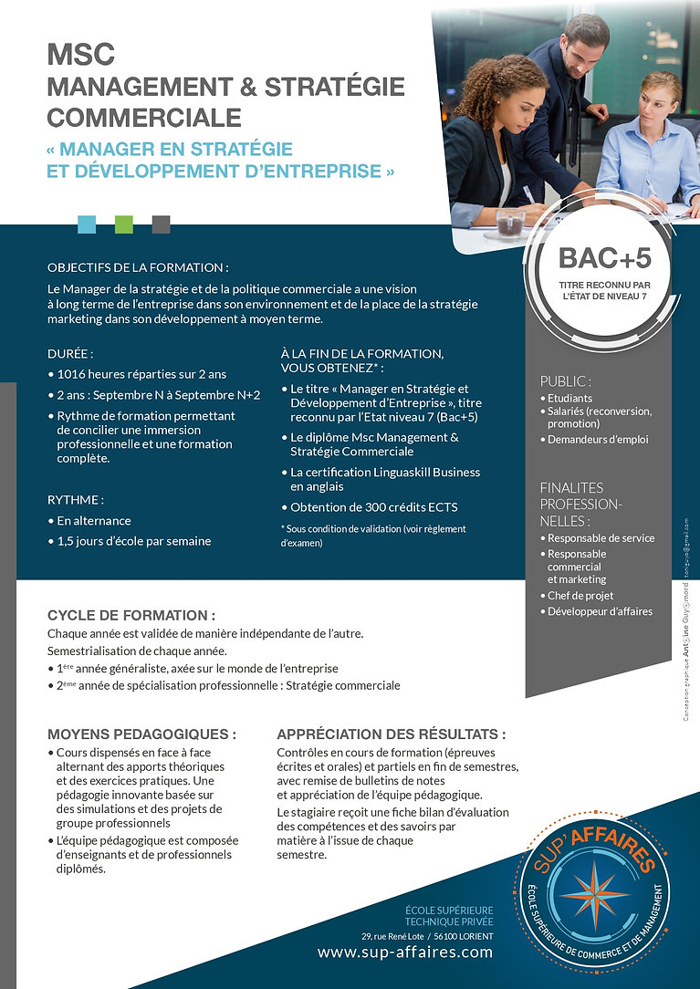 master mastere bac+5 bac+4 lorient alternance apprentissage