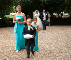 Page boy and bridesmaids