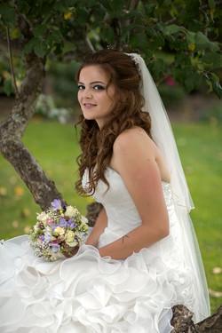 Natural light portrait of bride