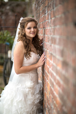 Bridal portrait at The Secret Garden