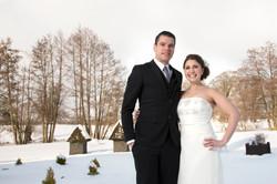 Winter wedding shot