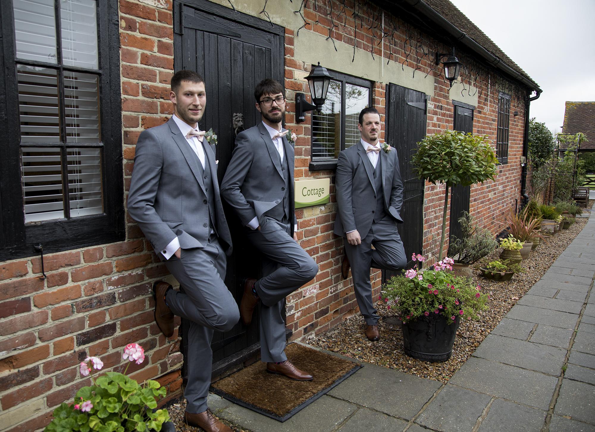 Ben and Claire's wedding, groomsmen