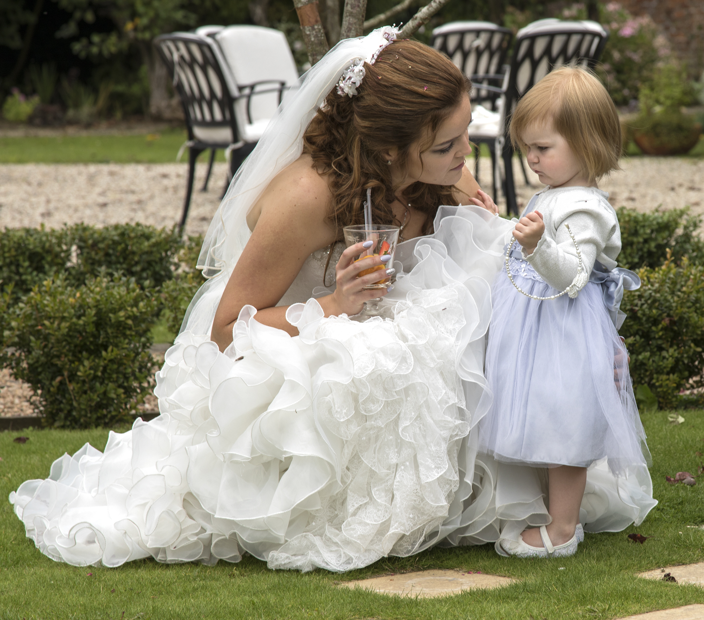 Mother and daughter wedding shot