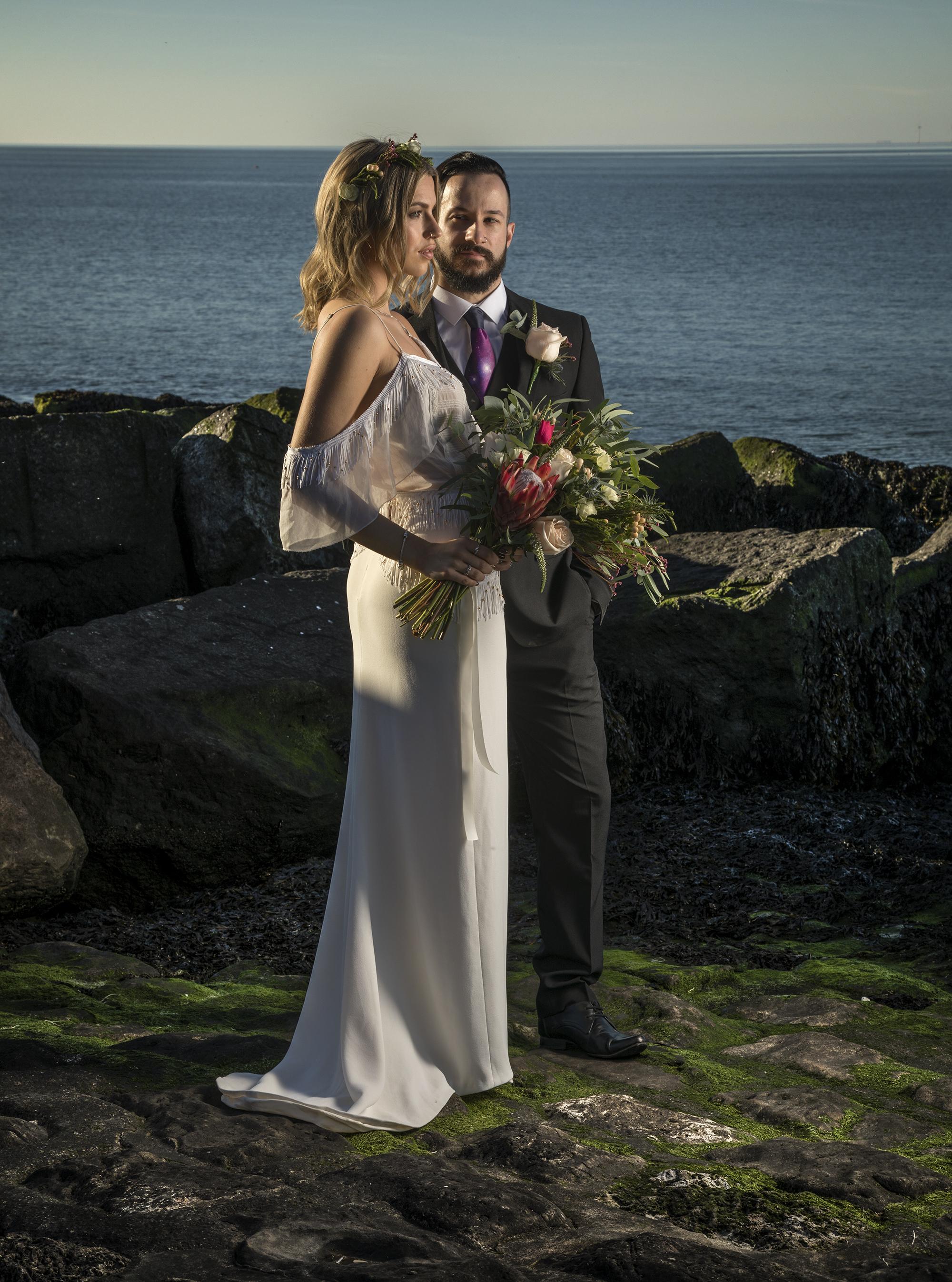 Wedding image at Reculver, Kent