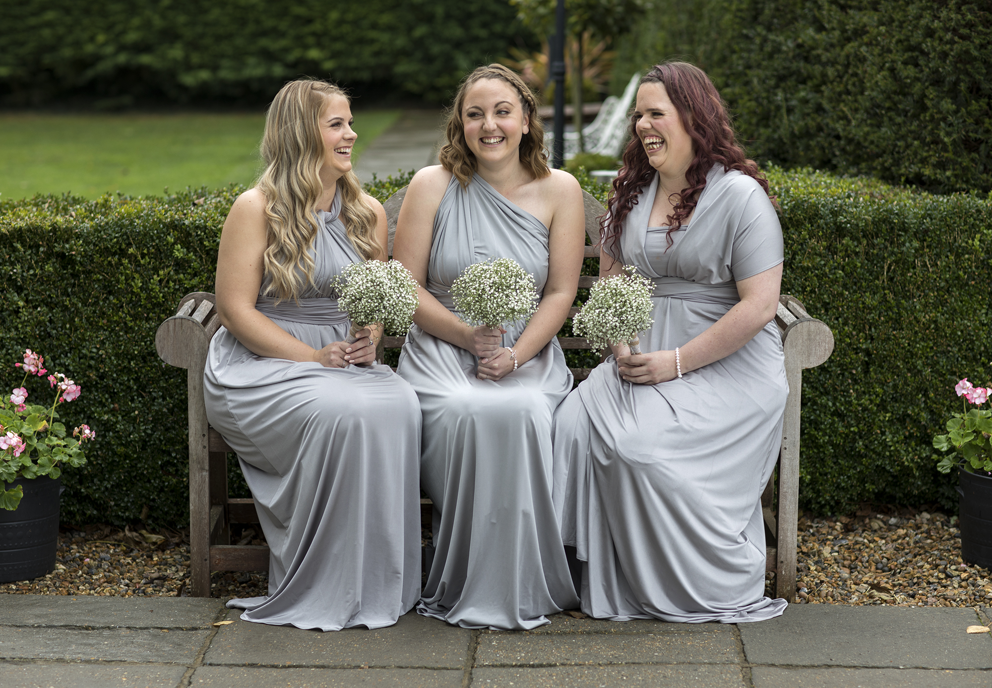 Bridesmaids at Winters Barn