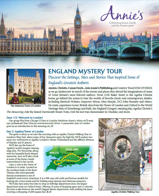Flyer: Annies Fiction Mystery Tour