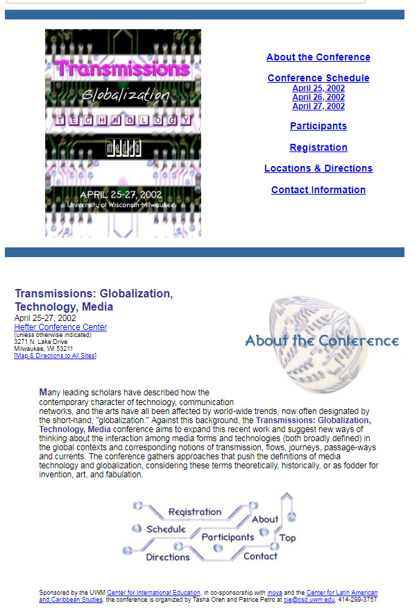 Transmissions Conference Site