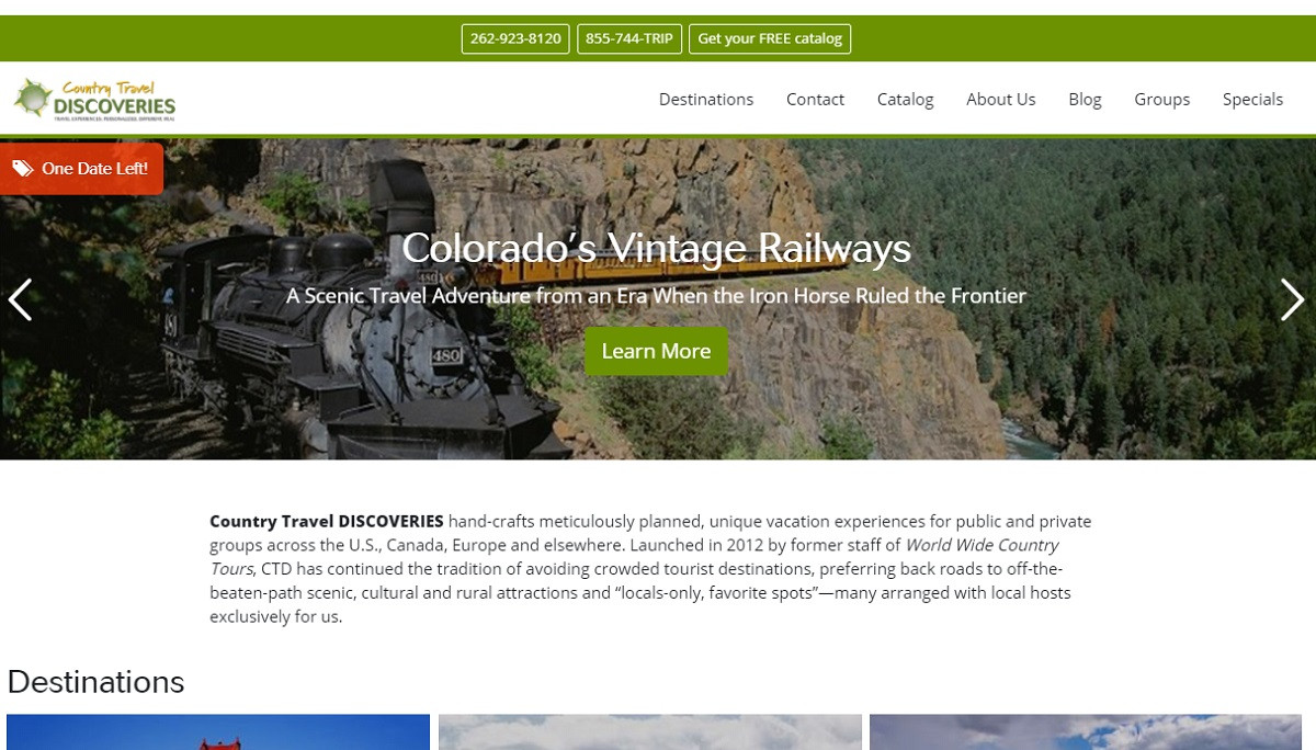 Country Travel Discoveries - Redesign