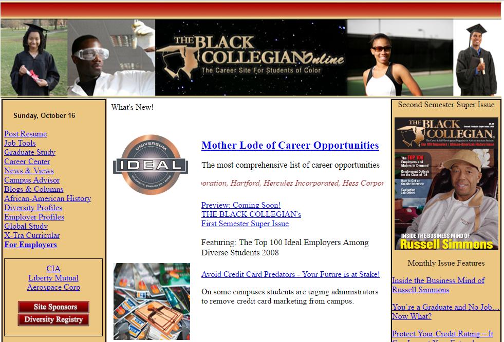The Black Collegian Online - Resdesign