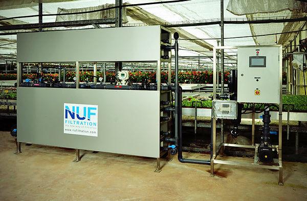 NUFiltration : Purification d'eau pour l'agriculture, serres