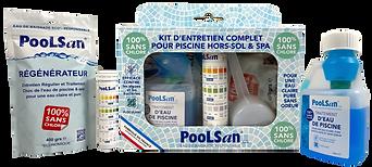 Poolsan Kit Complet Découverte Sans Chlore pour Piscine & Spa de 2 à 5m3
