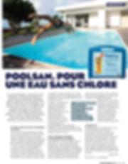 """Article : """"Poolsan, pour une eau sans chlore"""" : Réalisez des économies sur la gestion de la piscine & spa ! Profitez des avantages Poolsan® !"""