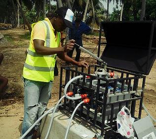 Utilisation du système NUFiltration Manuel pour la potabilisation de l'eau