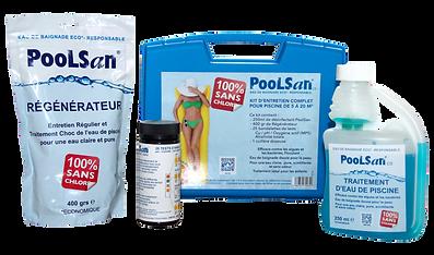 Poolsan® Kit complet pour piscines et spas SANS CHLORE