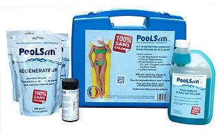 Kit de tratamiento de agua sin cloro Poolsan® para piscinas 45-60m3
