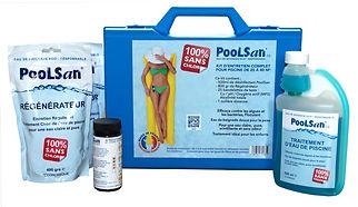 Kit de tratamiento de agua sin cloro Poolsan® para piscinas 25-40m3