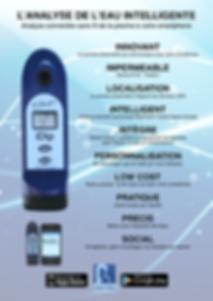 Système d'analyse connecté IDIP®, compatible avec les produits SANS CHLORE Poolsan® ! (vendu séparément)
